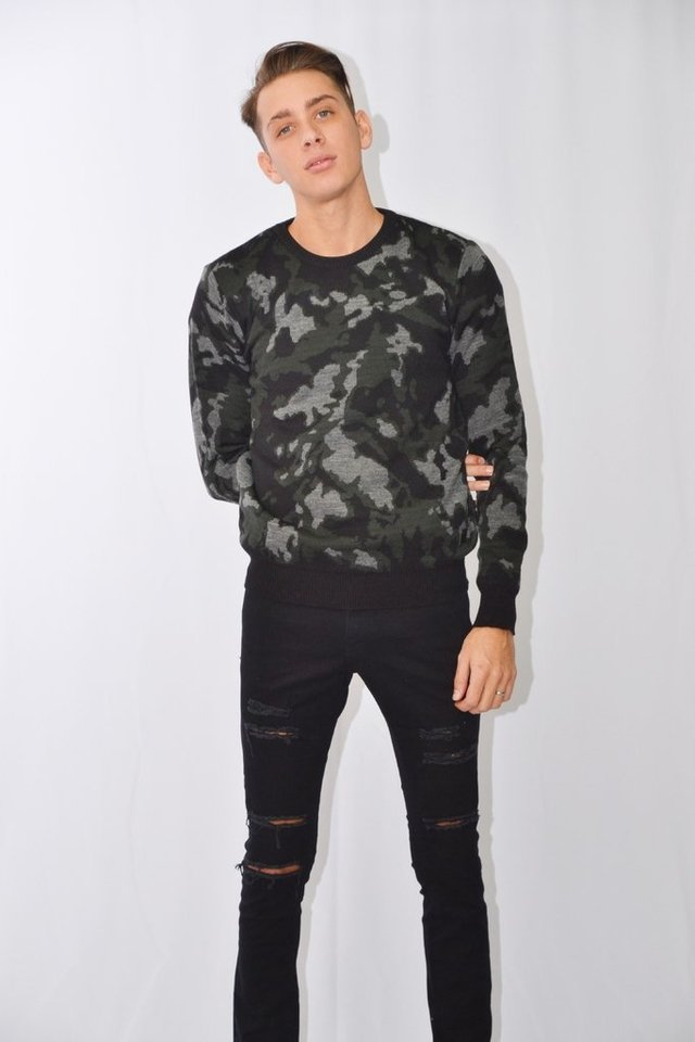 Sweater camuflado Art I177001 en internet