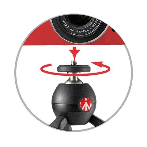 Manfrotto  PIXI Mini Table Top Tripod (Black)