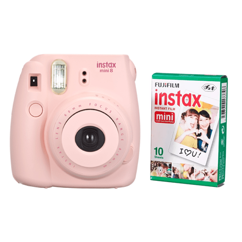 Fujifilm instax mini 8 Pink + pack x10 fotos
