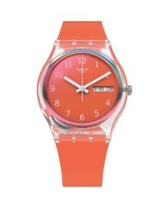 Reloj Swatch Mujer Essentials Red Away Ge722 Silicona Rojo