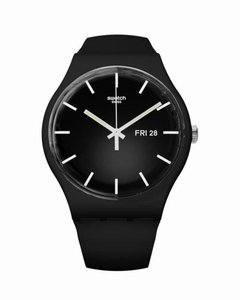 Reloj Swatch Hombre Mono Black Suob720 Sumergible 3 Bar