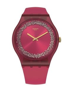 Reloj Swatch Mujer Ruby Rings Suop111 Silicona Sumergible