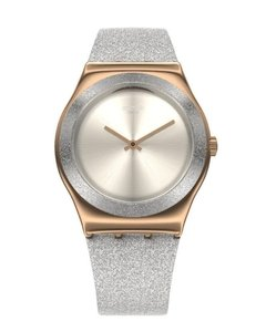 Reloj Swatch Mujer Holiday Collection Ylg145 Grey Sparkle