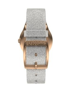 Reloj Swatch Mujer Holiday Collection Ylg145 Grey Sparkle - tienda online