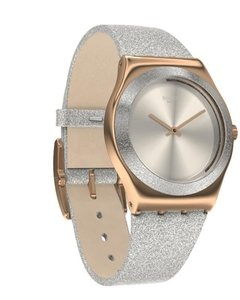 Reloj Swatch Mujer Holiday Collection Ylg145 Grey Sparkle - comprar online