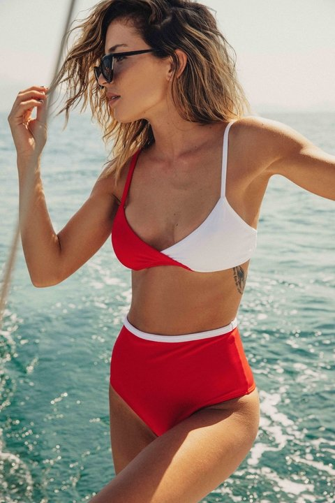 BIKINI JANE WHITE&RED