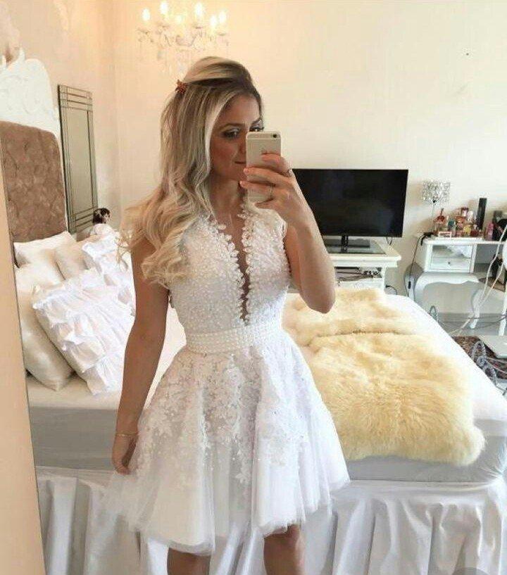 380f806546 Vestido curto de noiva - Comprar em Ateliê da Isabela