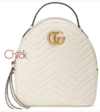Mochila GG Marmont Quilted Branca Italiana