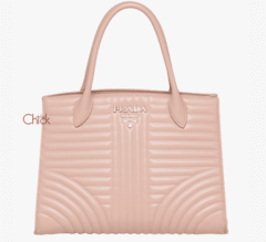 Bolsa Diagramme Leather Rosé - Italiana