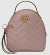 Mochila GG Marmont Quilted Nude Italiana
