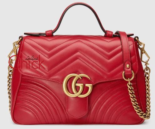 3ccd2a195 Bolsa Marmont GG com alça Vermelha Italiana