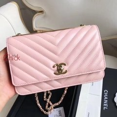 Bolsa New Woc Chevron Rosé Italiana