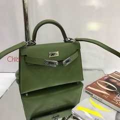 Bolsa Kelly Mini 20 Verde Italiana na internet