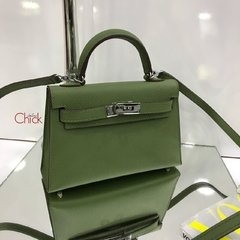 Bolsa Kelly Mini 20 Verde Italiana