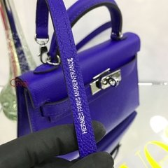 Bolsa Kelly Mini 20 Azul Italiana na internet