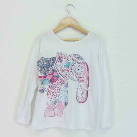 Remera Kid nena Elefante - they and they
