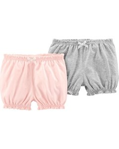 Kit com 2 Shorts BabyGirl (pink and gray) - Carter's
