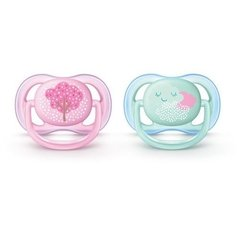 Chupeta Ultra Air Decorada (0 - 6 meses) Dupla, Philips Avent - Star