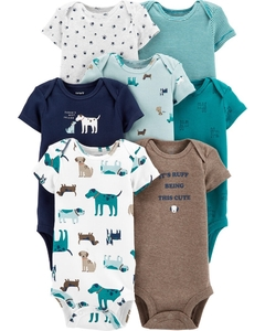 Kit com 7 bodies da Carter's - Woodland Creatures