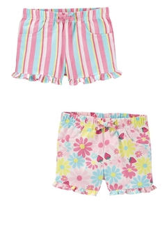 Kit com 2 Shorts BabyGirl Floral Carter's
