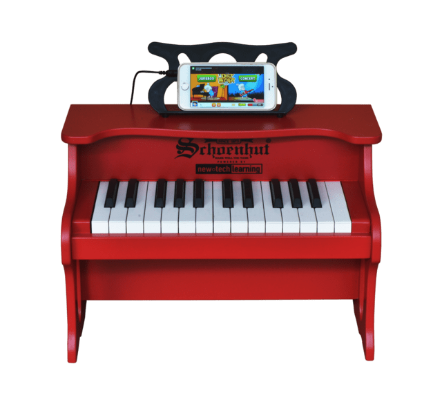 Piano Digital para niños 25 Teclas Schoenhut 25 Key Digital Table Top Piano Red