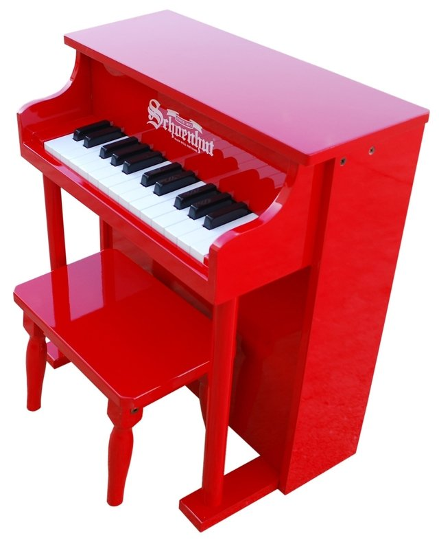 Piano para niños 25 teclas Schoenhut Traditional Spinet Piano 25-Key Red