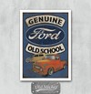 Placa Ford Old School