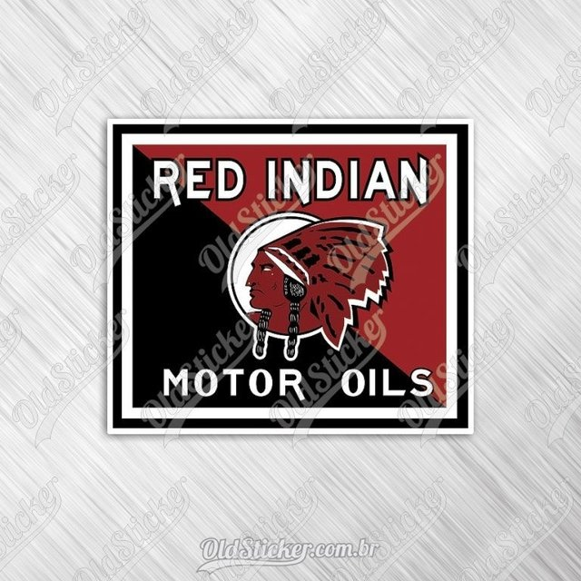 Adesivo Red Indian Motor Oil