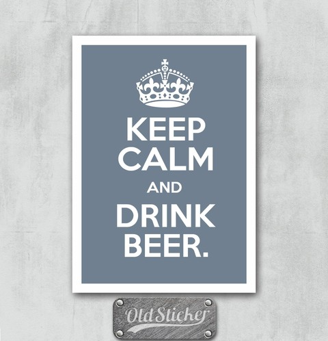 Placa Keep Calm And Drink Beer