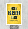 Placa Free Beer Here