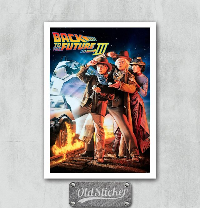 Placa Back To The Future III