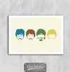 Placa The Beatles Color