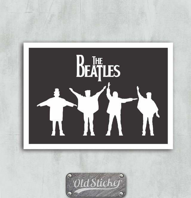 Placa The Beatles P&B
