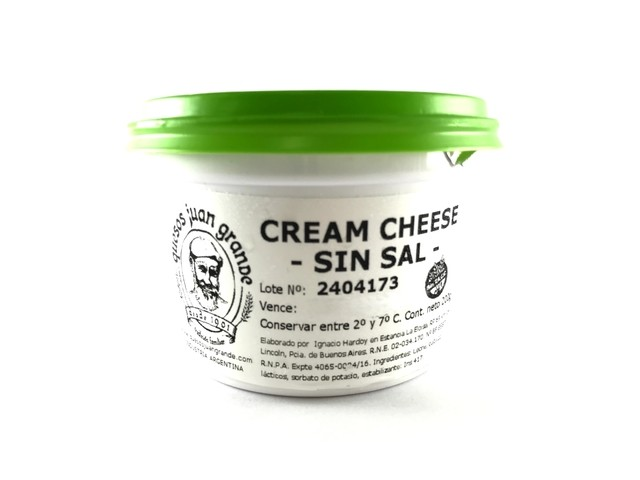 CREAM CHEESE SIN SAL 200G