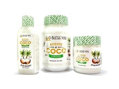 "Aceite de coco virgen 125ml ""God Bless You"" en internet"