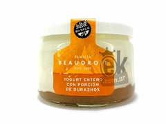 "Yogurt entero con duraznos ""Beaudroit"""