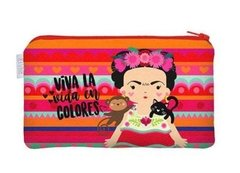 Necessaire Flat P Frida Colorful ( 21,8 x 12,8 x 1,5 cm)