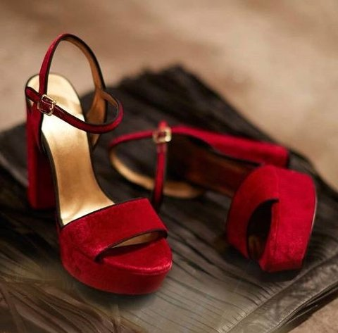 Sandalias Plataforma Terciopelo Bordo Nine West