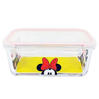Pote de Vidro com Trava Minnie Alegria 1500ML - Disney