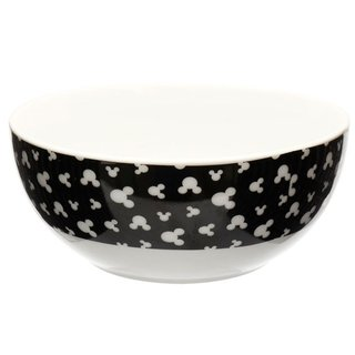 Bowl Mickey Preto com Branco - Disney