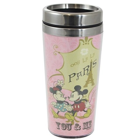 Copo Térmico Mickey e Minnie Paris 450 ml - Disney