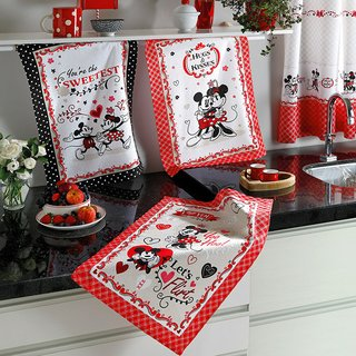 Kit 3 Panos de Pratos Mickey e Minnie Love - Disney