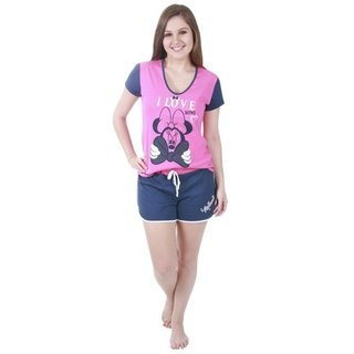 Pijama Minnie Rosa Adulto - Disney