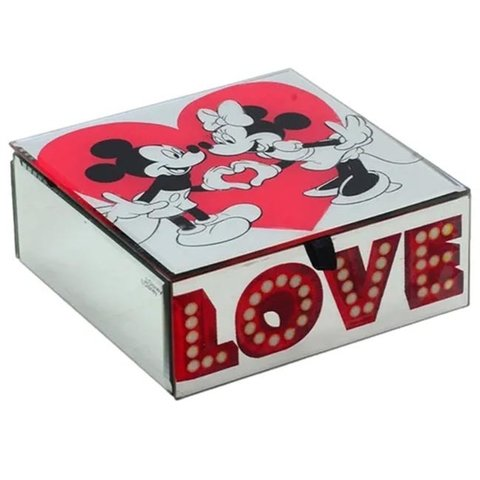 porta-joias-espelhado-mickey-minnie-love-disney