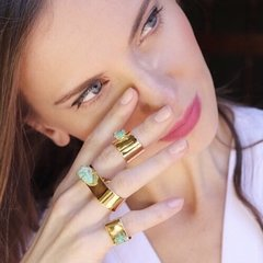 Emerald Double Gladiator Ring - comprar online