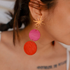 Aretes Luna Doble Pop