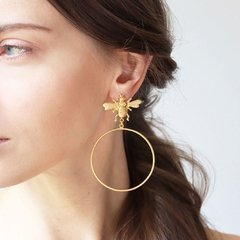 Aretes Candonga Abeja - comprar online