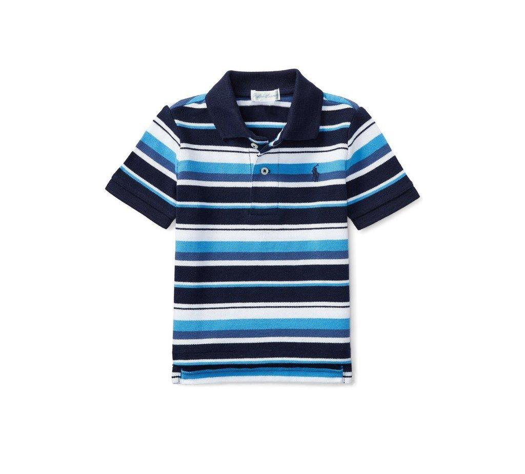 Camiseta Polo Listras Azul Ralph Lauren cf3f31bce1e
