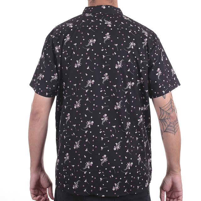 CAMISA RVCA DARK FLORAL BLACK ML508DAR