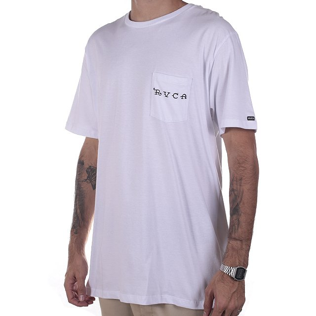 CAMISETA RVCA BERT PANTHER WHITE RV01A0155